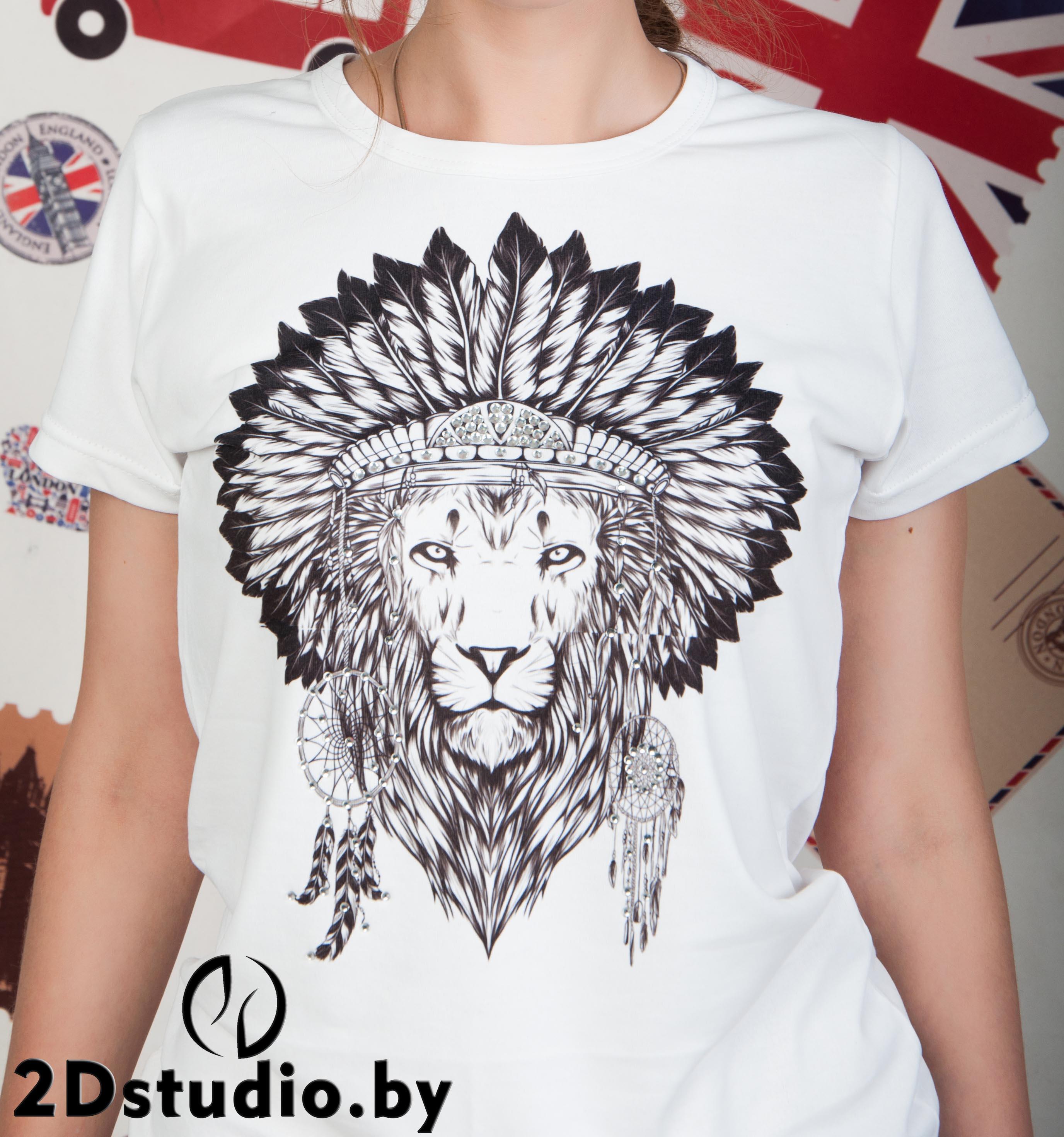 Майка с принтом лев