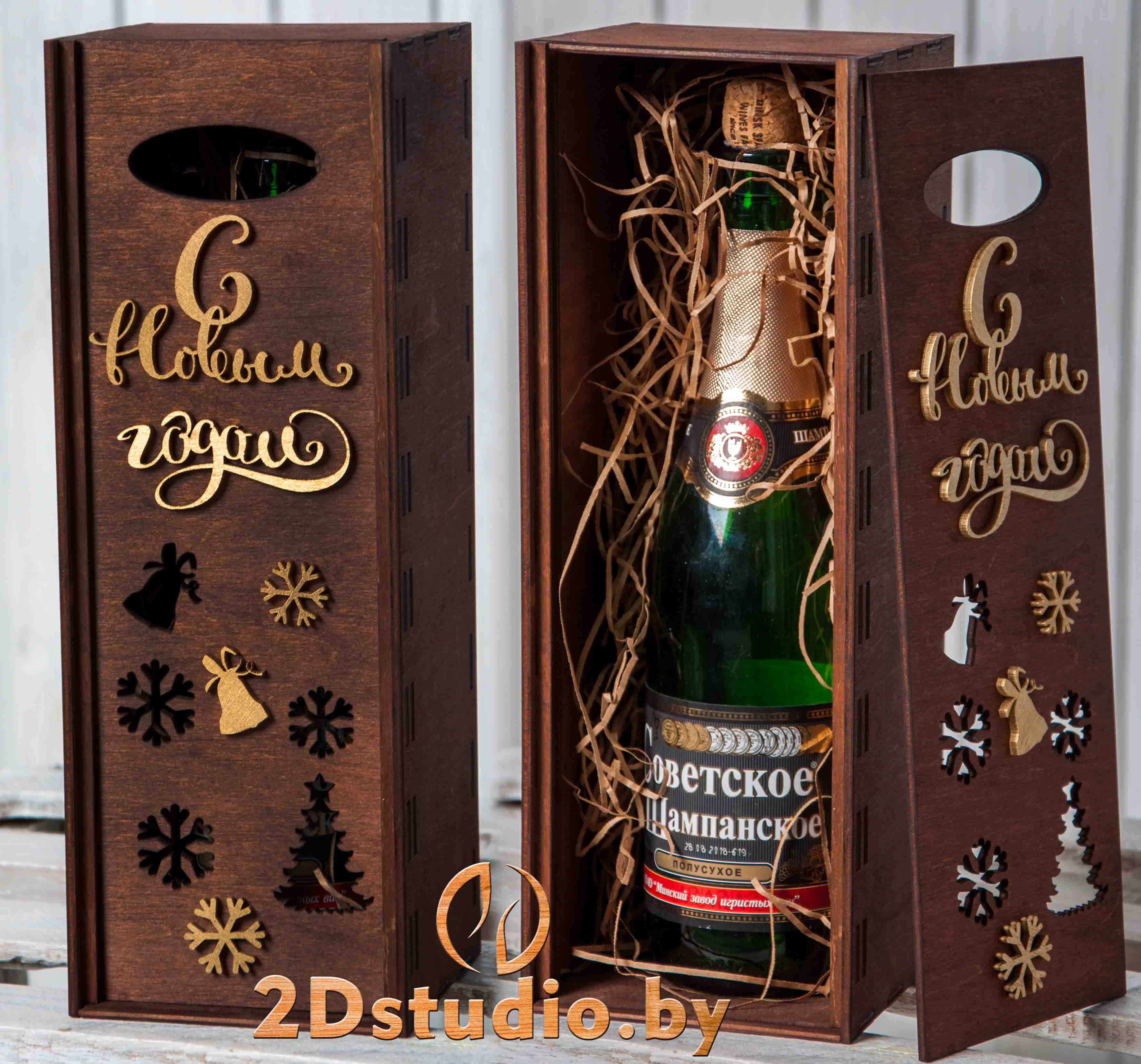 коробка для шампанского из дерева