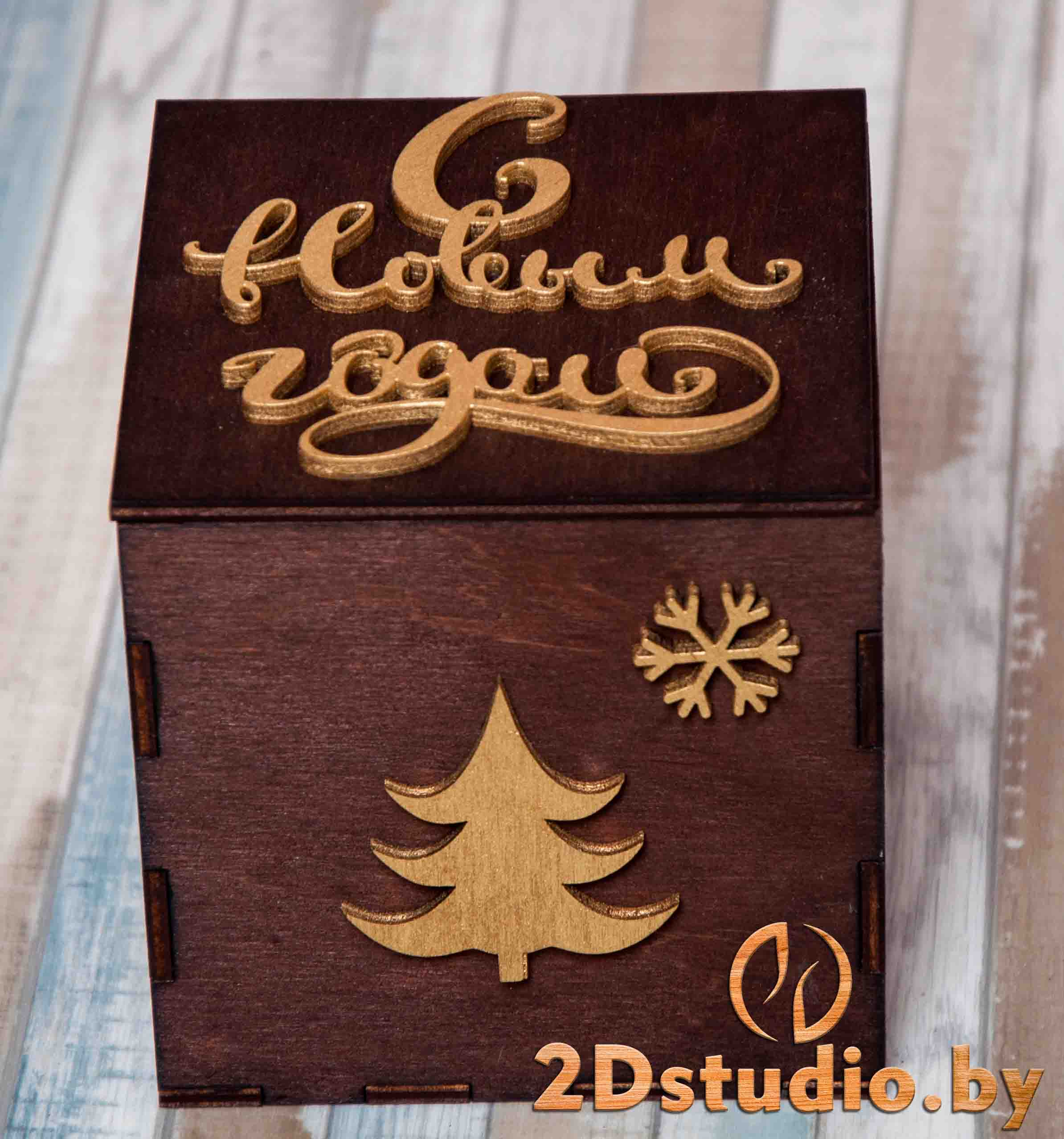 Коробка для кружки из дерева
